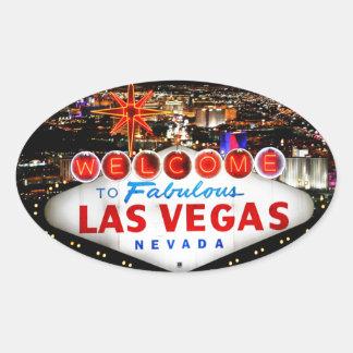 Las Vegas-Geschenke Ovaler Aufkleber
