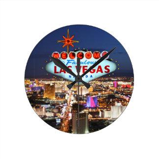 Las Vegas-Geschenke Runde Wanduhr