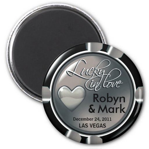 Las Vegas-Jungvermählten-Kasino-Chip-Magnet-Bevorz Magnets