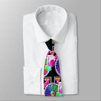 Las Vegas-Kasino-Karten-Würfel und Schlitze Krawatte