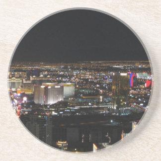 Las Vegas nachts Sandstein Untersetzer