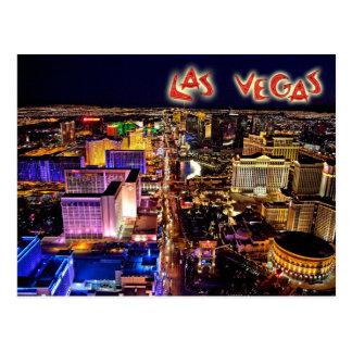 Las Vegas, Nevada nachts - Luftaufnahme Postkarte