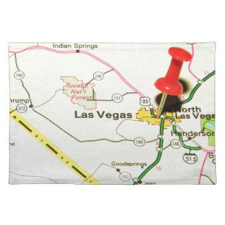 Las Vegas, Nevada Stofftischset