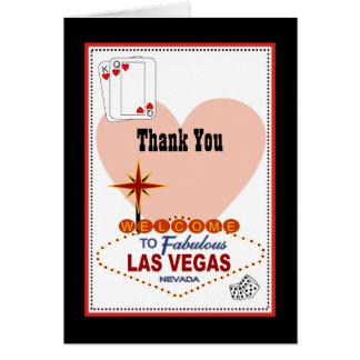 Las Vegas-Paare Herzen danken Ihnen zu kardieren Karte