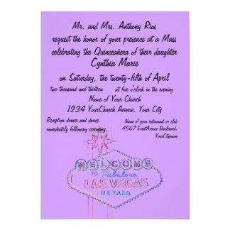 Las Vegas Quinceanera 12,7 X 17,8 Cm Einladungskarte