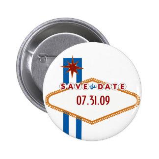 Las Vegas Save the Date Runder Button 5,7 Cm