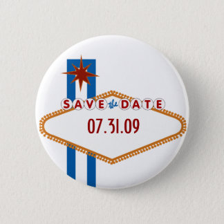 Las Vegas Save the Date Runder Button 5,7 Cm