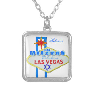 Las Vegas-Schläger Mitzvah Versilberte Kette