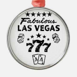 Las Vegas Silbernes Ornament
