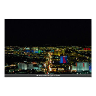 Las Vegas-Skyline in Las Vegas Plakat