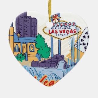 Las Vegas-Spaß in The Sun Keramik Ornament