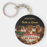 Las Vegas-Streifen-Braut u. Bräutigam Keychain Schlüsselband