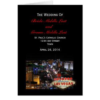 Las Vegas-Streifen-Hochzeits-Programm Karte