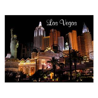 Las Vegas-Streifen-Kasinos Nevada-Postkarte