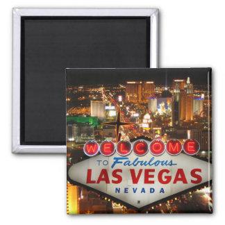 Las Vegas-Streifen-Magnet Quadratischer Magnet