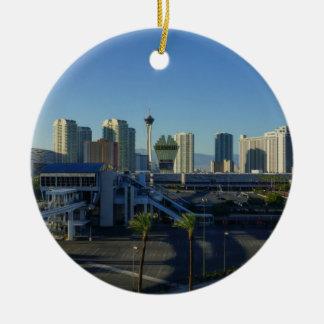 Las Vegas-Streifen voran Keramik Ornament