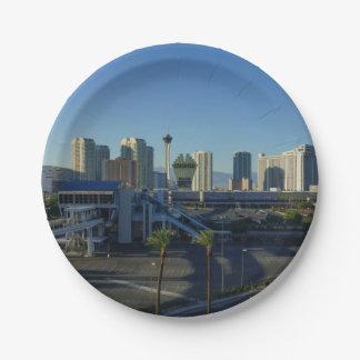 Las Vegas-Streifen voran Pappteller