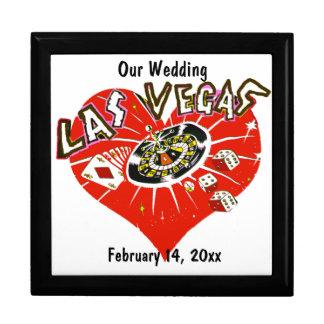 Las Vegas-Valentinsgruß-Hochzeit Große Quadratische Schatulle