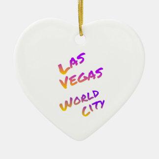 Las Vegas-Weltstadt, bunte Textkunst Keramik Ornament