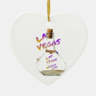 Las Vegas-Weltstadt, Wasser Flasche Keramik Ornament