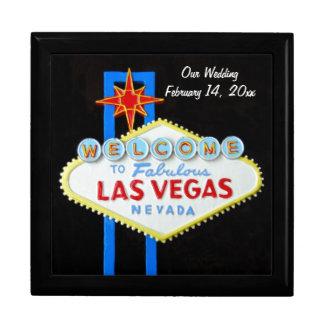 Las Vegas-Zeichen-Hochzeits-Datum Geschenkbox