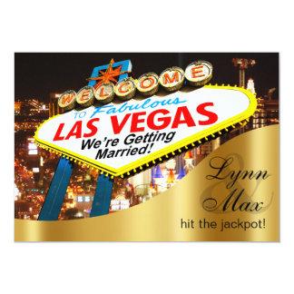 Las Vegas-Zeichen-informelle Spaß-Hochzeit 12,7 X 17,8 Cm Einladungskarte