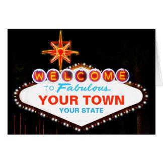 Las Vegas-Zeichen Karte