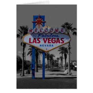 Las Vegas-Zeichen-Karte Karte