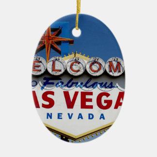 Las Vegas-Zeichen Keramik Ornament
