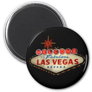 Las Vegas-Zeichen-Magnet Runder Magnet 5,1 Cm