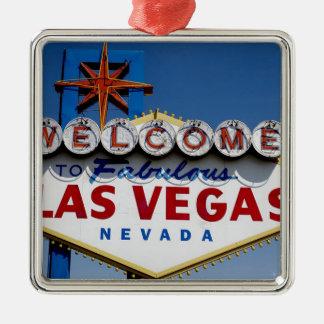 Las Vegas-Zeichen Silbernes Ornament