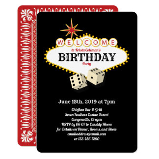 Las- Vegasfestzelt-Geburtstags-Party-Schwarzes Karte