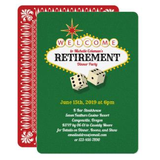 Las- Vegasfestzelt-Ruhestands-Party-Grün Karte