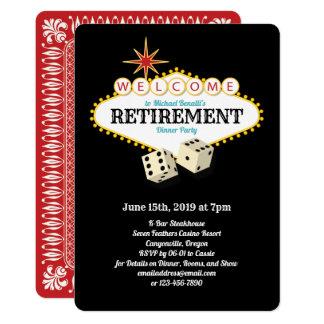 Las- Vegasfestzelt-Ruhestands-Party-Schwarzes Karte