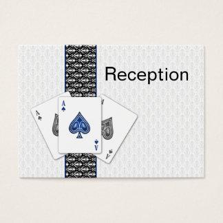 Las- Vegashochzeit Empfangs-Karten Visitenkarte