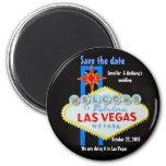 Las- Vegashochzeiten personalisiert Save the Date Magnete