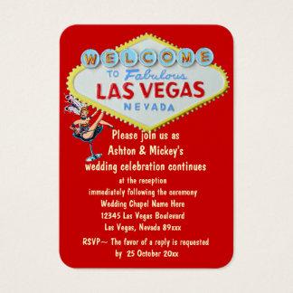 Las  Vegashochzeits Empfangs Einladung Visitenkarte