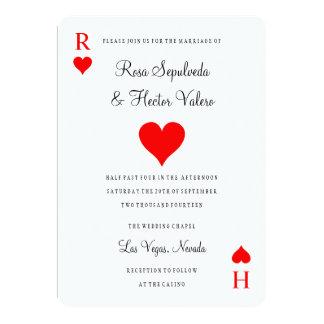 Las- Vegaskasino-Poker-Spielkarte-Einladung 12,7 X 17,8 Cm Einladungskarte