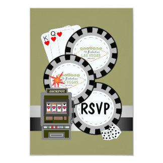 Las- VegasPoker bricht UAWG Karte ab 8,9 X 12,7 Cm Einladungskarte