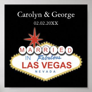 Las- Vegasschildplakat