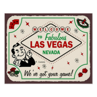 Las- Vegasspiel-Vintager Kunst-Spiel-Raum-Poker Poster