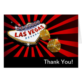 Las- VegasSternexplosion danken Ihnen rotes Mitteilungskarte