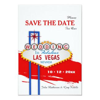 Las- Vegaszeichen-Save the Date Mitteilung Karte