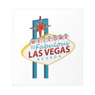 Las- Vegaszeichen-Sehenswürdigkeit Notizblock