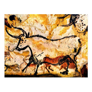 Lascaux Höhlenmalerei von Stier-Postkarte Postkarte