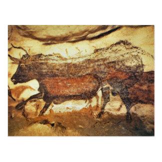 Lascaux prähistorische Höhlenmalereien Postkarte