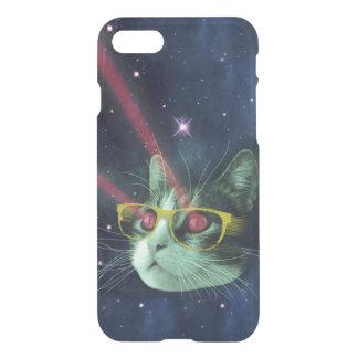 Laser-Katze mit Gläsern im Raum iPhone 8/7 Hülle