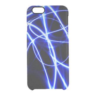 Laser rays Blau und Schwarzes Durchsichtige iPhone 6/6S Hülle
