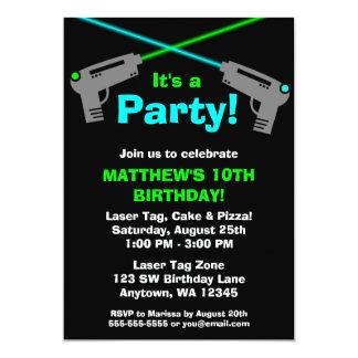 Laser-Umbau-blaues Grün-Geburtstags-Party 12,7 X 17,8 Cm Einladungskarte