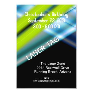 Laser-Umbau-Geburtstag 12,7 X 17,8 Cm Einladungskarte